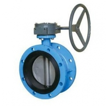 Flange type rubber lined butterfly valve