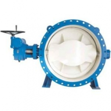 Ductile iron double flanged butterfly valve