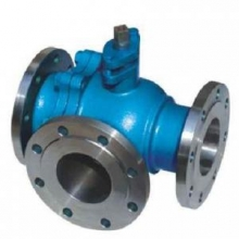 T type Three way ball valve